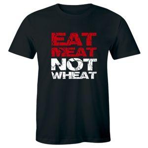 Keto Diet T Shirt Eat Meat Not Wheat Funny Vegan
